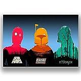 Box Prints Retro Artplakatkunstdruckschwarzes Weiß des gerahmten Bildes des Star Wars Trilogy-Vintages Retro- Art klein groß