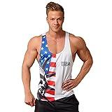 CHENYANG Herren Tanktop Tank Top Tankshirt T-Shirt mit Print Unterhemden Ärmellos Weste Muskelshirt Fitness Stil 2 XL