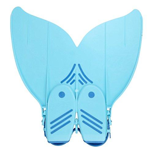 Vdealen Kinder oder Erwachsener Schwimmflosse Monoflosse Flipper für Meerjungfrauenschwänze