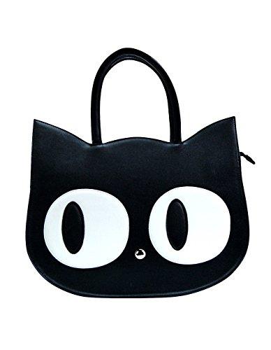 Banned Damen Schultertasche Schwarze Katze - Heart Of Gold Shopper Tasche (Damen Kitty)