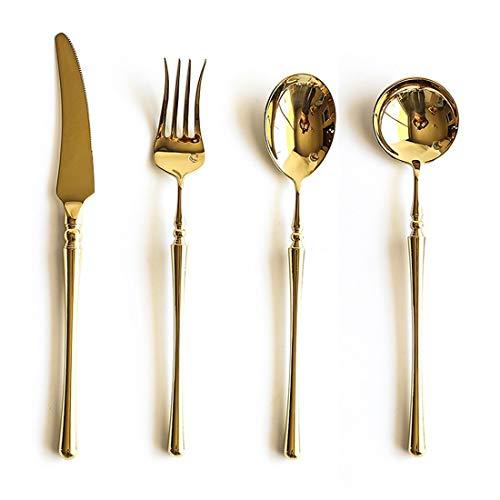 Olprkgdg Couteau à steak et cuillère à fourchette à trois ou quatre sets