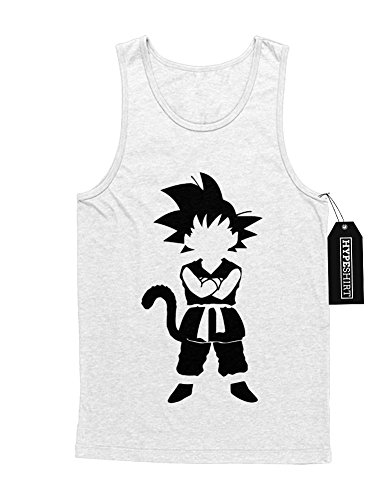 Tank-Top Son Goku Dragon Ball Z Growing Fast GT Super Trunks Gohan Saiyajin C980006 Weiß XL