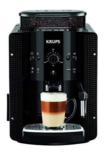 Krups EA8108 - Cafetera súper-automática, con selección de cantidad e intensidad de café, 1,6 l, color negro