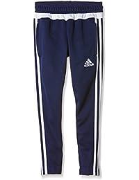Adidas Tiro 15 entrenamiento pantalones de chándal para hombre dark blue/white/dark blue 12 años (152 cm)
