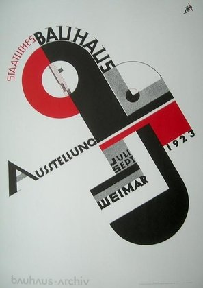 Joost Schmidt Bauhaus Ausstellung 1923 Poster Kunstdruck - 84x59cm - Kostenloser Versand