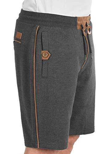 BLEND Felix Herren Sweat-Shorts kurze Hose Sport-Shorts aus 100% Baumwolle Charcoal (70818)