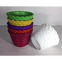 GARDENS NEED 110030 Plastic Star Pot Set (Multicolored, 6-Pieces)