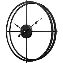 Jo332Bertram Reloj de Pared Grande, XXL Estilo Vintage Reloj de Pared de Hierro 60cm Reloj