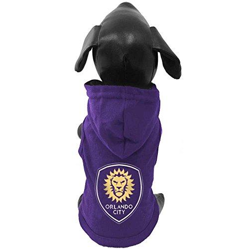 All Star Dogs MLS Orlando City F.C. Baumwolle Kapuzen Hund Shirt, klein, in violett