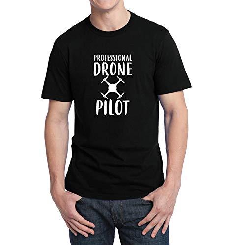 ef97ae509 LumaShirts Professional Drone Pilot Funny Quote Fly_001229 T-Shirt Birthday  For Him MD Man Black