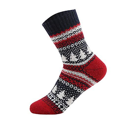 Stil Frauen Stricken warme beiläufige Wolle Crew Winter Stiefel Socken Strumpfwaren Strümpfe passt für die meisten Erwachsenen ()