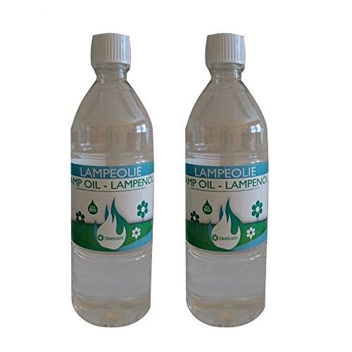 Krause & Sohn 2 x 1 Liter Umweltfreundliches Bio-Lampenöl für Gartenfackel Kerzenöl Zum Wiederbefüllen (2)