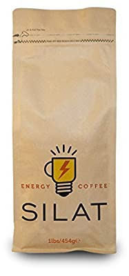 World's Strongest Ground Coffee Beans, Silat Energy Coffee, Artisanal Italian Rich Coffee, Smooth Tasting, Single Origin and Wet Processed 1lbs/454g bags by World's