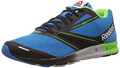 Reebok Men's Reebok One Lite Energy,Black,Solar Green,White and Steel Running Shoes - 10 Uk
