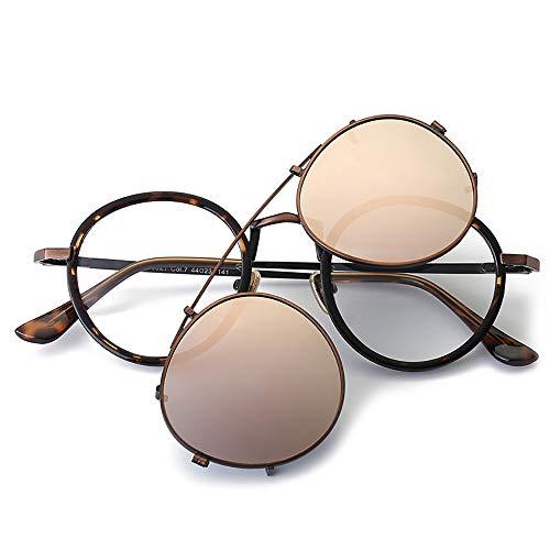 Admier Sonnenbrillen polarisierten UV400 Schutz Mode Stil Runde Retro Brillen Männer Frauen können mit kurzsichtigen Spiegel ausgestattet Werden
