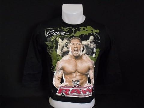 WWE - World Wrestling Entertainment T-Shirt Garçon Noir Batista Taille 4 ans