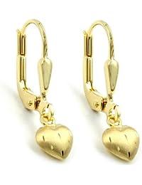 Ohrring Brisur kleines Herz 8Kt GOLD 431157