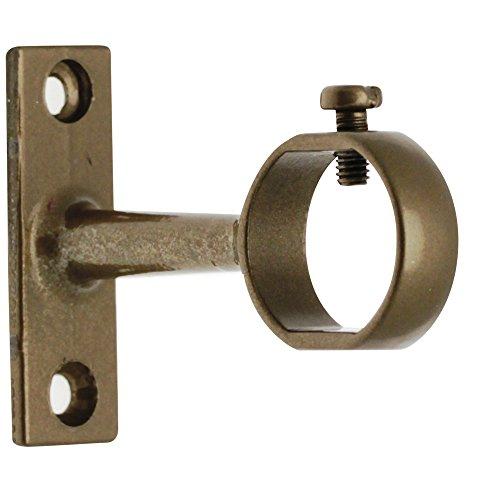 Ateliers 28 Support à Oeil Acier Bronze - Fixe - Longueur 5 cm - pour Tube diamètre 20 mm - Vendu par 2