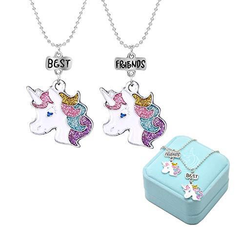 Mejores Amigos Unicornio Colorido Amistad Collares
