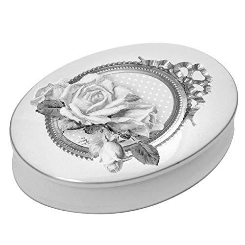 Mathilde M. Schmuckdose Dose oval \'Roses\' Keramik Bad Nostalgie Landhaus Shabby French