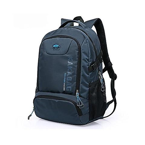 YAAGLE Herren Notebook Laptop Rucksack 15,6 Zoll Wasserdichter Schulrucksack Business Rucksack blau