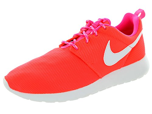 Nike Rosherun (GS) Laufschuhe lava glow-white-pink pow - 38,5 (Nike Mesh-jugend)