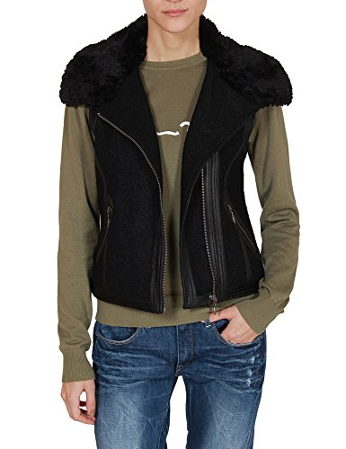 jessica-simpson-womens-black-warm-vest-with-fur-collar-in-size-m-black