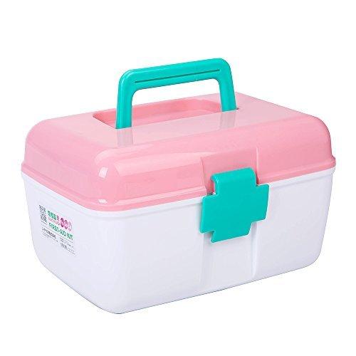 FaSoLa Dual-layer Polypropylene Medicine Storage Case Box (Pink, S) by FaSoLa