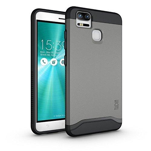 ZenFone 3 Zoom Hülle, TUDIA Slim-Fit Merge Dual Layer Schutzhülle für ASUS ZenFone 3 Zoom (ZE553KL) (Metallic Slate)