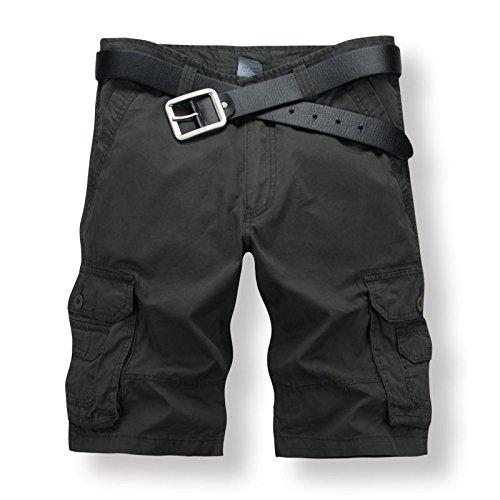 Roludom - Costume - Relaxed - Homme Noir Noir Noir - Vert armée