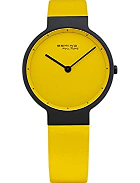 Bering Time Damen-Armbanduhr Max René UltraSlim Gelbes Ziffernblatt 12631-827