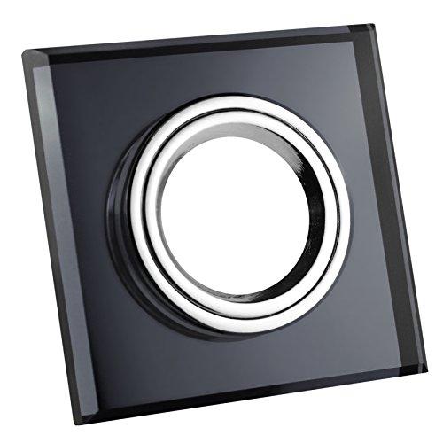 Einbaustrahler / Glas-Alu-Cristal / Spot / Einbauleuchte / Einbauspot / QUADRATISCH-SCHWARZ-118510 (Ohne Leuchtmittel)