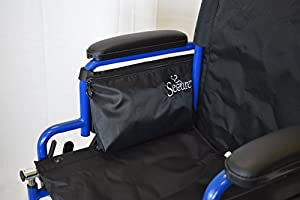 "Secure Wheelchair Or Walker Mobility Pouch Bag 8.5""x12""x2"" Black"