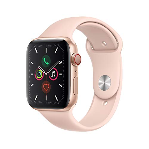 Apple Watch Series 5 (GPS + Cellular, 44mm) - Gold Aluminium Case with Pink Sport Band