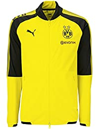 Puma BVB Poly Jacket with Sponsor 2017 / 2018 Borussia Dortmund black 751844 01