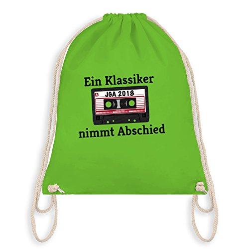 JGA Junggesellenabschied - Ein Klassiker nimmt Abschied - JGA 2018 - Turnbeutel I Gym Bag Hellgrün