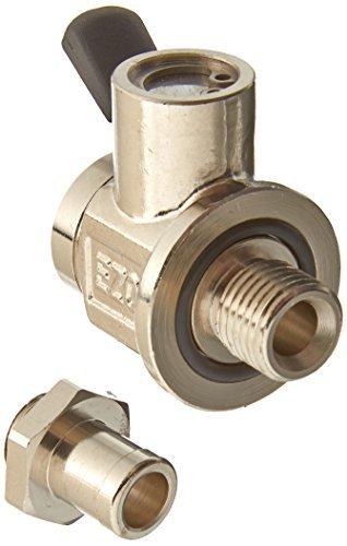 EZ Silver Small 90 Degree Hose End EZ Oil Drain Valve L-001