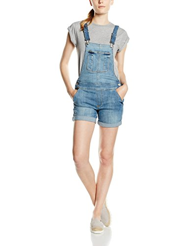 ONLY Damen Jeanshose Onlnew Kim Witty Dnm OVERALLSHORTCRE1043, Blau (Light Blue Denim), 34