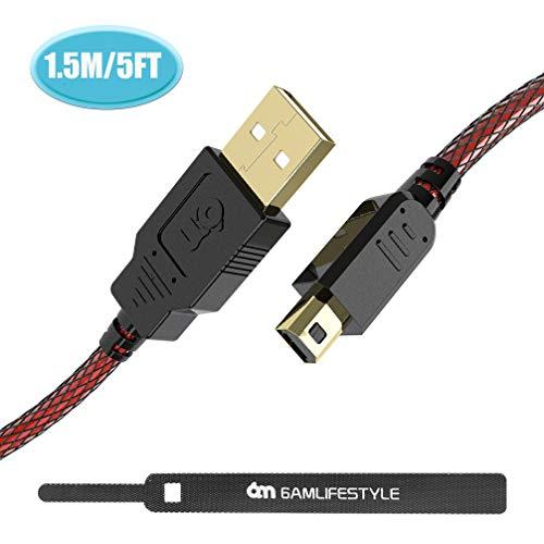 6amLifestyle de alta velocidad premium USB datos Sync cargador Cable de carga para Nintendo 2DS/3DS/3DS XL/DSi/DSi XL