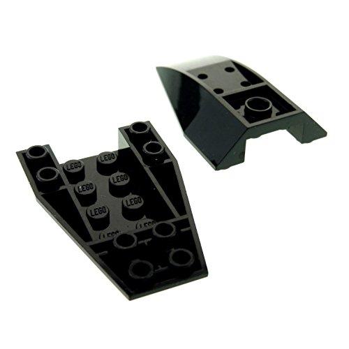 1 x Lego System Schrägstein schwarz 6x4 negativ gebogen Keil Stein Wedge für Set Star Wars Batman Ultra Agents Ninjago 43713