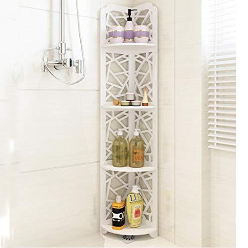Badezimmer-Regal, Bodenstehende Dreieckige Bodenmontierte Toilette, Stativ, Eitelkeit, Holz-Kunststoff-Platte, Badezimmer-Ablagefach - Badezimmer-eitelkeit-holz-eitelkeit