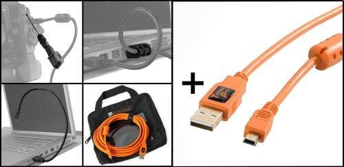 Tether Tools-Starter tethering- Kit: USB 2.0A/Mini B Kabel 4,6M Mini Usb-kabel Kit