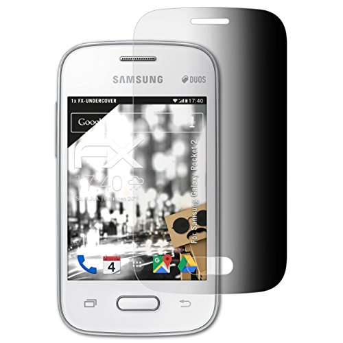 atFolix Blickschutzfilter für Samsung Galaxy Pocket 2 Blickschutzfolie, 4-Wege Sichtschutz FX Schutzfolie