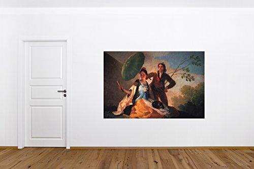 Vlies Fototapete Francisco de Goya - Der Sonnenschirm - 180x120 cm - mit Kleister - Foto auf Tapeten...