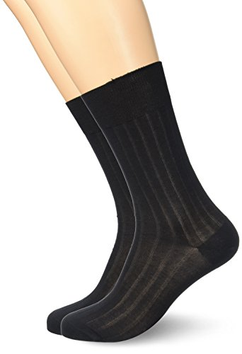 Dim Fil d'Ecosse, Chaussettes, Lot de 2 paires, Homme, Noir, 43/46 (Taille fabricant: 43/46)
