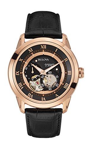 bulova-97a116-automatic-montre-homme-automatique-analogique-cadran-noir-bracelet-cuir-noir