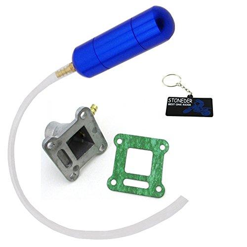 STONEDER Blue Power/Boost Flasche Motor Lufteinlass Pipe Set für 2Takt Mini Pocket Bike 4749cc