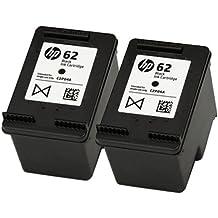 2x originales HP 62cartucho de tinta negra para uso con impresoras HP Envy 7640