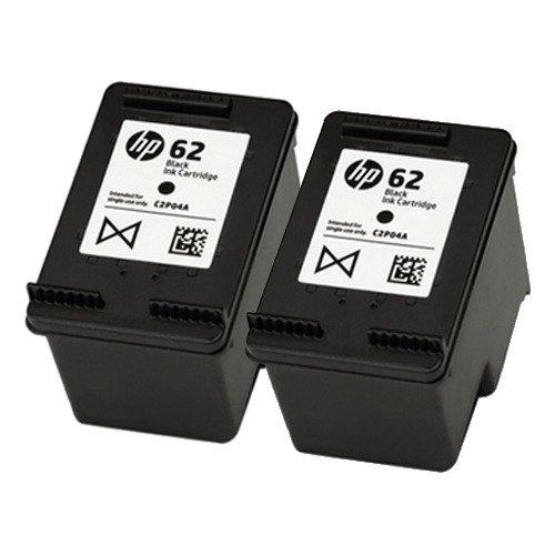 Galleria fotografica 2x cartuccia d' inchiostro originale HP 62nera per uso con le stampanti HP Envy 7640