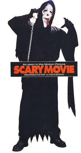 Scary Movie Whazaaaap Set mit Retro Telefonhörer Original Maske Crazy, Kutte, Gürtel, Handschuhe (Scary Maske Movie)